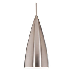WAC Lighting - WAC Lighting MP-LED966 1 Light Down Lighting Canopy Mount Pendant Bulle - Contemporary / Modern 1 Light Down Lighting Canopy Mount Pendant from the Bullet CollectionSleek and stylish, this classy one light canopy mount fixture from the Bullet collection is the perfect addition the contemporary home. The cool and modern spun metal shade has a smooth conical design. The Bullet collection's finishes match WAC Lighting's rail systems to ensure that you get the right style in your home, no matter what fixture you go with.WAC lighting's collection of QUICK CONNECT fixtures includes hundreds of choices to suite your every need. QUICK CONNECT fixtures are available in a wide range of finishes and glass colors to accommodate many design concepts.Features: