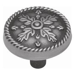 Hickory Hardware - Chartres Knob (Set of 10) (Satin Pewter Antique) - Finish: Satin Pewter Antique.