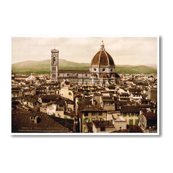 PosterEnvy - Florence Italy - View of the Duomo 1897 - NEW World Travel Poster - Florence Italy - View of the Duomo 1897 - NEW World Travel Poster