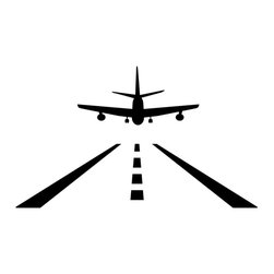 Dana Decals - Plane Landing Wall Decal - Airplane Aircraft Landing Strip