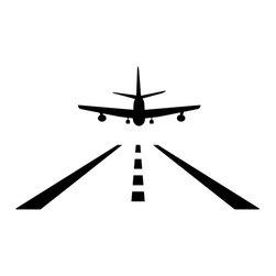 Dana Decals - Plane Landing Wall Decal - Airplane Aircraft Landing Strip
