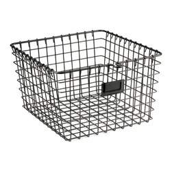 Spectrum Diversified Designs - Locker Basket - Cool Gray, Medium - We can't get enough of our cool gray locker baskets for our organizing projects. With an industrial look, we love to use these storage baskets as a basic in the pantry, bath, closet and playroom. They're perfect for storing blocks, stuffed animals and craft supplies, too. Size: Medium.