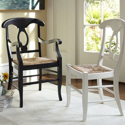 Napoleon Rush Seat Chair - If English country or French Provincial shabby chic is your thing, then you would want to incorporate these Napoleon chairs from Pottery Barn into your design.