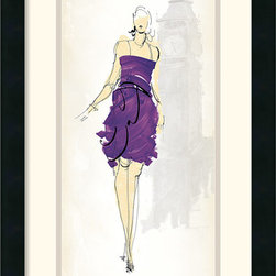 Amanti Art - Fashion Lady III Framed Print by Avery Tillmon - It is all about the dress; celebrate fashion culture and couture with this fun framed print by Avery Tillmon.
