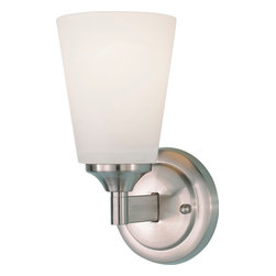 Murray Feiss - Murray Feiss Paris Moderne Transitional Wall Sconce X-SB9421BW - From the Paris Moderne Collection, this Murray Feiss wall sconce features clean and simple details that are sure to please. For added appeal, this contemporary wall sconce comes in a modern Brushed Steel hue that compliments the artistic design. A white opal etch glass shade with gentle tapering pulls the look together.