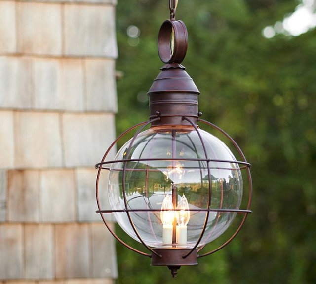 Hardwired Outdoor String Lights : Traditional Outdoor Hanging Lights by Pottery Barn