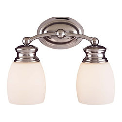 Savoy House - Savoy House Pour Le Bain-Elise Bathroom Lighting Fixture - Shown in picture: Coordinating Chrome Bath Fixture - effortless - easy style with Opal Frosted Glass