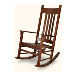 Angel Line - Country Adult Rocking Chair - Country Adult Rocker with its stylish flat slats and classic country design is sure to be the perfect addition to any nursery or indoor relaxation. You can rock your baby to sleep or sit back and relax when baby is in the crib. The solid hard wood construction will allow this rocker to be used from generation to generation. Features: -Rocker chair.-Solid wood construction.-Beautiful non toxic finish.-Product Type: Rocker.-Distressed: No.-Powder Coated Finish: Yes.-Gloss Finish: No.-Frame Material: Solid Wood.-Hardware Material: Steel.-Solid Wood Construction: Yes.-Number of Items Included: 1.-Non-Toxic: Yes.-Weather Resistant or Weatherproof: Weather Resistant Finish.-Water Resistant or Waterproof: Water Resistant.-UV Resistant: Yes.-Fire Resistant: No.-Scratch Resistant: No.-Stain Resistant: Yes.-Rust Resistant: Yes.-Mildew Resistant: Yes.-Rot Resistant: Yes.-Insect Resistant: Yes.-Arms Included: Yes.-Upholstered Seat: No.-Upholstered Back: No.-Nailhead Trim: No.-Rocker: Yes.-Swivel: No.-Glider: No.-Footrest Included: No.-Stackable: No.-Foldable: No.-Inflatable: No.-Legs Included: Yes -Number of Legs: 4.-Leg Material: Solid Wood.-Protective Floor Glides: Yes..-Casters: No.-Cupholder: No.-Skirted: No.-Ottoman Included: No.-Adjustable Height: No.-Ergonomic Design: No.-Age Recommendation: 10+.-Outdoor Use: Yes.-Seating Capacity: 1.-Weight Capacity: 300.-Swatch Available: No.-Commercial Use: Yes.-Recycled Content: Yes -Total Recycled Content (Percentage): 100%.-Post-Consumer Content (Percentage): 100%.-Remanufactured/Refurbished: No..-Eco-Friendly: Yes.-Product Care: Wipe clean with a wet cloth.-Convertible: No.Specifications: -FSC Certified: No.-CPSIA or CPSC Compliant: Yes.-CARB Compliant: No.-Green Guard Certified: No.Dimensions: -Overall Height - Top to Bottom: 46.5.-Overall Width - Side to Side: 26.5.-Overall Depth - Front to Back: 34.5.-Seat Height: 17.5.-Seat Width - Side to Side: 20.-Seat Depth - Front to Back: 18.-Legs: -Leg Height: 25..-Arms: -Arm Height: 26.25.-Arm Width: 3.75..-Depth When Fully Reclined: 34.5.-Overall Product Weight: 27.Assembly: -Assembly Required: Yes.-Additional Parts Required: No.Warranty: -Product Warranty: 6 Months.