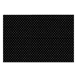 """SheetWorld - SheetWorld Fitted Crib / Toddler Sheet - Primary White On Black Pindot Woven - This luxurious 100% cotton """"woven"""" crib / toddler sheet features white pindots on a solid black background. Our sheets are made of the highest quality fabric that's measured at a 280 tc. That means these sheets are soft and durable. Sheets are made with deep pockets and are elasticized around the entire edge which prevents it from slipping off the mattress, thereby keeping your baby safe. These sheets are so durable that they will last all through your baby's growing years. We're called SheetWorld because we produce the highest grade sheets on the market today. Size: 28 x 52."""