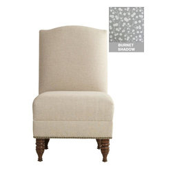 Home Decorators Collection - Custom Camdyn Upholstered Armless Chair - Our Custom Camdyn Upholstered Armless Chair is beautifully crafted in the United States. The nailheads along the seat add visual interest, while the custom upholstery makes this chair truly a unique piece. Choose from our large selection of top-quality fabric options to create a chair that you are sure to love. Assembled to order in the USA and delivered in 4-6 weeks. Spot clean only.