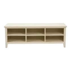 Safavieh - Durrant Low Bookshelf - The low-slung Durrant bookshelf , in vintage creamy white finish, will prove a versatile addition to casual country-loving settings. As a TV stand, six roomy drawers make light work of storing DVDs or books. Minor assembly required.
