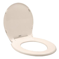 American Standard - American Standard 5322.011.222 Rise and Shine Round Front Toilet Seat, Linen - This American Standard 5322.011.222 Rise and Shine Round Front Toilet Seat and cover is part of the Additional Accessories collection, and comes in a beautiful Linen finish. This solid plastic seat and cover features a Rise and Shine cleaning feature that allows for a quick snap-out removal and reattachment without tools.