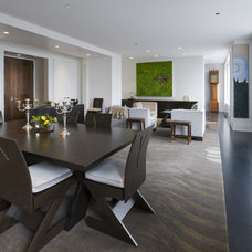Contemporary Dining Room Kitchen dining