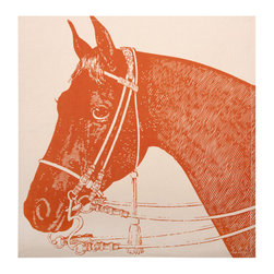 Thomas Paul - Thoroughbred Napkin, Set of 4 - Bold and graphic; these are words often used to describe crazy uncles and women's fashion, but they are also the perfect words to describe the textile collection of design industry darling Thomas Paul. His prints are the perfect addition to any space needing a splash of character.