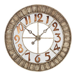 Sterling - Sterling 128-1001 Round Metal Outdoor Wall Clock. - Sterling 128-1001 Round Metal Outdoor Wall Clock.
