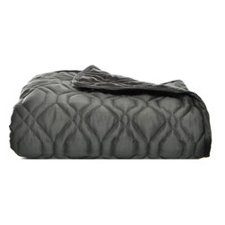 Nicole Miller - Nicole Miller NY Magnifique Quilted Throw - The Magnifique quilted throw features a unique texture that will bring luxurious style to your bedroom or living area decor. Designed with polyester sateen and crafted with smoke grey fabric,this quilted blanket is machine washable.