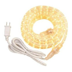 Westek - Westek 6-ft. Incandescent White Rope Light Kit RW6BCC - Shop for Lighting & Fans at The Home Depot. AmerTac Incandescent Rope Lights feature flexible, heavy duty, UV inhibiting PVC tubing that resists yellowing and cracking. Simple to connect additional kits for up to 200 ft. of continuous light - just remove main rope light end cap, remove power cord from 2nd kit and screw the two together. Perfect for inside homes to line steps, bottom or top of cabinets, valances, sliding doors, windows or entertainment center. Commonly used outdoors to outline decks, patios, pathways, stairs or for the holidays.