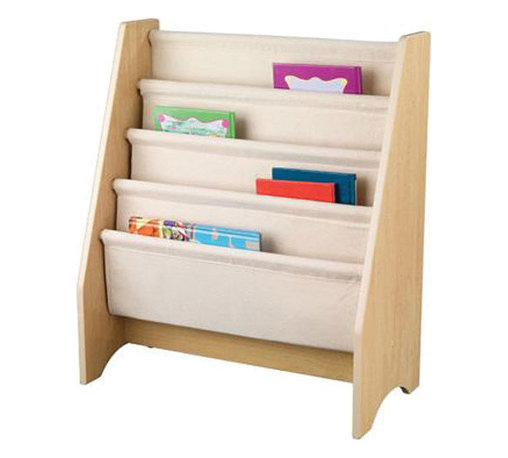"""KidKraft - Kidkraft Kids Study Room Storage Sling Bookshelf - Natural - Getting children excited about reading isn't always a simple task, but our new Sling Bookshelf makes story time a lot more fun. This shelf is the perfect gift for the young readers in your life. Dimension: 24""""Lx 12""""Wx 28""""H"""