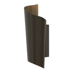 Hinkley Lighting - Hinkley Lighting 2350BZ Surf 2 Light Outdoor Wall Lights in Bronze - Surf's chic design reflects the natural curl of a breaking wave. Constructed of solid stainless steel as well as solid aluminum, this LED lantern emits light both up and down.