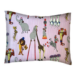 SheetWorld - SheetWorld Crib / Toddler Percale Baby Pillow Case - Madagascar Pink - Baby or Toddler pillow case. Made of an all cotton percale fabric. Opening is in the back center and is envelope style for a secure closure.