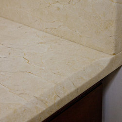"""Custom Edge Detail """"Stop"""" - We use a """"stop"""" on all our edges. Rather than letting the beveled edge run awkwardly into the wall under the backsplash, we taper it for a graceful finish. This is a little detail, but used consistently throughout a project, it adds a sense of quality and craft."""