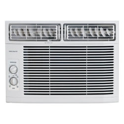 Frigidaire A/C - 10000 BTU, w/ Rotary Controls - Frigidaire's FRA102BT1 10,000 BTU 115V Window-Mounted Compact Air Conditioner is perfect for rooms up to 500 square feet. It quickly cools a room on hot days and quiet operation keeps you cool without keeping you awake. This unit features mechanical rotary controls and 8-way air direction control. The antibacterial mesh filter with tilt-out access reduces bacteria, room odors and other airborne particles for a cool, comfortable environment. Low power start-up conserves energy and saves you money plus, effortless restart automatically resumes operating at its previous settings when power is restored.10,000 BTU compact air conditioner for window-mounted installation|Uses standard 115V electrical outlet|Quickly cools a room up to 500 sq. ft.|Dehumidification up to 2.7 pints per hour|Mechanical rotary controls|Low power start-up conserves energy and saves you money|Quiet operation keeps you cool without keeping you awake|Effortless restart automatically resumes operating at its previous settings when power is restored|8-way comfort control design allows you to easily control the direction of the air wherever the unit is mounted|3 cooling speeds and 3 fan speeds for more cooling flexibility|  frigidaire| fra0102bt1| fra102| cooling| window| mounted| window-mounted| air| conditioner| ac| a/c| compact| 10|000| 10000| btu| btus| 115v| 115-volt  Package Contents: air conditioner|window mounting kit|manual|warranty  This item cannot be shipped to APO/FPO addresses
