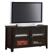 Transitional Entertainment Centers And Tv Stands Monarch Specialties 48x18 TV Stand in Cappuccino, Dark Wood