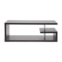 Wholesale Interiors - Modern Lindy Coffee Table - Sculptural and minimalistic, this designer coffee table does double duty as a art piece and storage space.