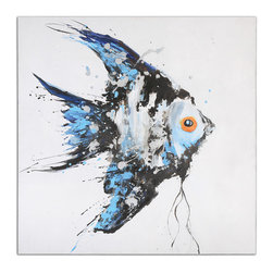 Uttermost - Blue Angel Ocean Art - If you're a fan of the ocean, why not bring an angelfish home? Unlike the real thing, this one requires no aquarium, food or special care.