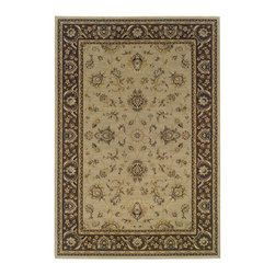 "Oriental Weavers - Traditional Ariana Hallway Runner 2'3""x7'9"" Runner Blue-Brown Area Rug - The Ariana area rug Collection offers an affordable assortment of Traditional stylings. Ariana features a blend of natural Blue-Brown color. Machine Made of Polypropylene the Ariana Collection is an intriguing compliment to any decor."
