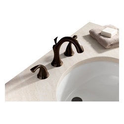 Delta - Addison Two Handle Widespread Bathroom Faucet in Venetian Bronze - Delta 3592LF-RB Addison Two Handle Widespread Bathroom Faucet in Venetian Bronze. Inspired by the delicate scallops of a seashell, Addison brings a fresh new look to the bath.  Getting ready in the morning is far from routine when you are surrounded by a bath that reflects your personal style.  And, Addison is the first Delta bath collection to offer Touch2O  Technology and Proximity?� Sensing Technology.  Multiple finish options add to the collection's appeal and design suitability.  The Addison Collection is available in a full suite of products to provide a coordinated look to your bath.Delta 3592LF-RB Addison Two Handle Widespread Bathroom Faucet in Venetian Bronze, Features:1.5 gpm, 5.7 L/min