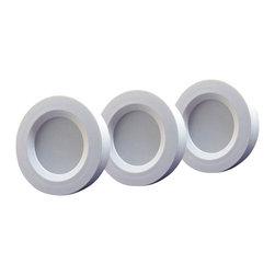 TorchStar - Set of 3 LED Under Cabinet Lighting Kit - 3Watt Aluminum Puck - Overview