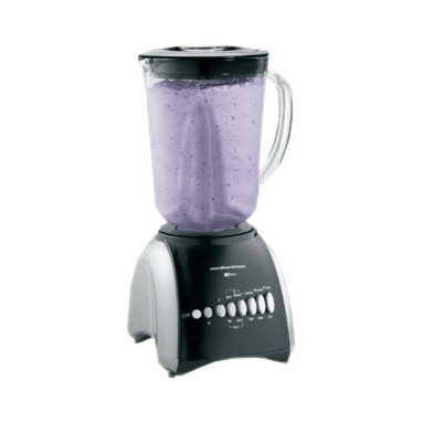 HAMILTON BEACH BRANDS, INC. - Hamilton Beach Wave Master 10 Speed Blender,10 Speed Blender - Hamilton Beach Wave Master 10 Speed Blender uses the patented Wave Action system to make delicious smoothies, milkshakes and other frozen drinks with consistently smooth results, and no ice chunks. This durable blender offers a sturdy glass jar (glass jug) with ample capacity, measuring marks and a comfortable handle for easy pouring.