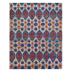 Loloi Rugs - Loloi Rugs Giselle Collection - Peacook, 2' x 3' - The radiant Giselle Collection is hand knotted entirely of refurbished sari silks from India. Each design reverberates in stunning colors like ruby red and sapphire blue that make for an incredibly vibrant collection, ideal for contemporary to transitional interiors.