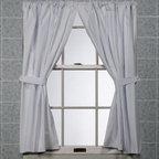 Carnation Home Fashions, Inc. - 5 Gauge Bathroom Window Panel Pair - Bathroom window curtains resist mildew. Extra-heavy quality vinyl, 5 gauge curtain is soft as silk.