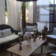Eclectic Patio Sleeping Porch