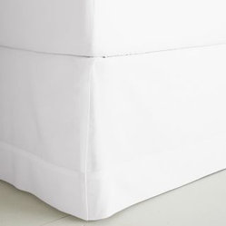 Cotton & Linen Tailored Panel Bed Skirt