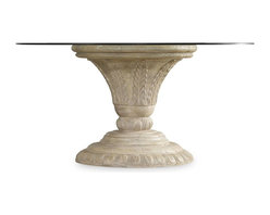 """Hooker Furniture - Hooker Furniture Solana Round Dining Table Base - Luminous and fresh, Solana is a refined rustic, opulent yet casual collection that celebrates the look of natural wood bathed in sunshine. Resin. Dimensions: 31.75""""W x 31.75""""D x 29.75""""H."""