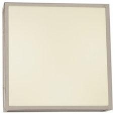 Garbo F2 Square Ceiling Flush Mount by Edge Lighting | garbo-c-sq-12-f2-sn