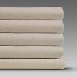 "Thomaston T180 Bone Twin Flat Bed Sheet for Hotel - 66"" x 108"" - Thomaston T180 Bone Twin Flat Bed Sheet for your Hotel by Ramayan Supply, LLC."