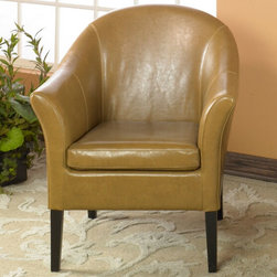 Armen Living - Camel Leather Club Chair - Lap of luxury. This smart looking camel leather club chair is great for home or office. Comfortable padding and California Fire Retardant rated.