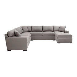 Z Gallerie - Phoenix Sectional - 4PC - Our Phoenix Sectional takes a minimalist approach to design. Finely tailored upholstery, boxed cushions and pillows all create a simplified stylishness sectional that works in most environments.