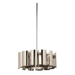Kichler - Kichler Ziva Unique Pendant Light Fixture in Polished Nickel - Shown in picture: Pendant 1Lt in Polished Nickel