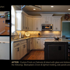 by Creative Cabinets and Faux Finishes. LLC