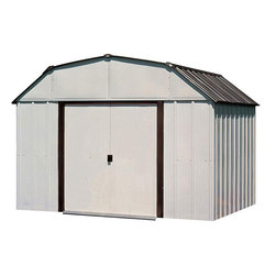 Arrow Sheds - Arrow Sheds Concord Steel Shed (10' x 14') - Transform your messy yard into an organized area with this steel Arrow barn shed. With an eggshell finish and steel construction,this shed is perfect for landscaping and gardening tools,or for any added storage.