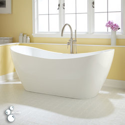 "72"" Sheba Acrylic Double-Slipper Air Tub - The 72"" Sheba Acrylic Double-Slipper Air Tub provides an essential, therapeutic massage experience in your own home. The clean lines and curvaceous shape are what give this tub its stunning appearance."