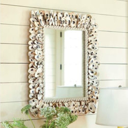 Oyster Shell Mirror - This shell mirror is beautiful!