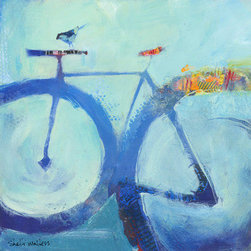 Bluebird (Original) by Shelli Walters - Inspired by the simple pleasure of riding a bicycle. Our bikes take us from childhood through adulthood and give us a sense of freedom and joy. Let's ride!