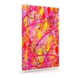"""Kess InHouse - Ebi Emporium """"Into the Fall"""" Orange Pink Wrapped Art Canvas (12"""" x 10"""") - Bring your outdoor patio to life with this artistic outdoor canvas wrap featuring gorgeous artwork by KESS InHouse. These canvases are not only easy to hang and remove but also are the perfect addition to your patio collection. These canvases are stretched around a wooden frame and are built to withstand the elements and still look artistically fabulous. Decorating your patio and walls with these prints will add the splash of art and color that is needed to bring your patio collection together! With so many size options and artwork to choose from, there is no way to go wrong with these KESS Canvas Wraps!"""