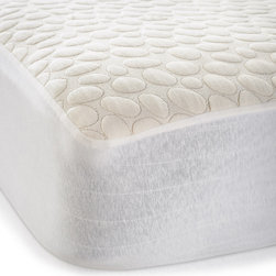 Christopher Knight Home - Christopher Knight Home PebbleTex Organic Cotton Waterproof Full-size Mattress P - This durable full-size mattress pad from Christopher Knight provides a waterproof barrier for mattresses. The organic, 100-percent cotton white mattress pad has double-stitched seams to provide many years use and protects against dust mites and allergens.